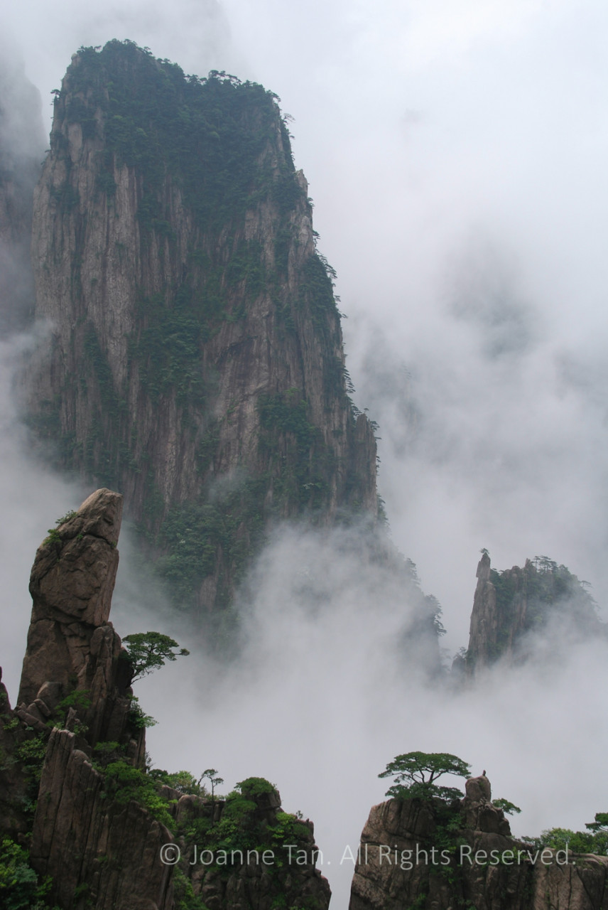 P-landscape-Yellow Mountain #3, A Rock in Awe of a Cliff. Huangshan, China (1)