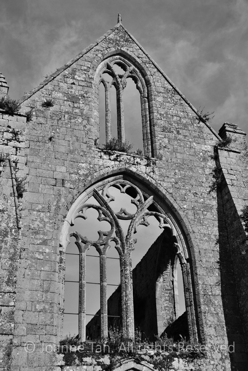 p - architecture - Ruins of an Old Cathedral, #2 B&W