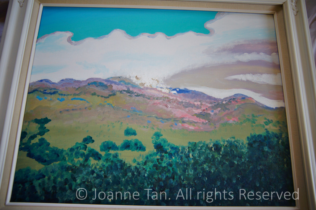 "Painting, Oil, ""Mt. Diablo's Spring Impression"", Mount Diablo, California. Framed. By Joanne Tan."